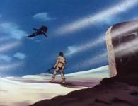 Face à la tombe de sa soeur, Vilak regarde l'Atlantis s'enfuir