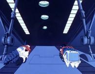 Albator, Clio, Ramis et Nausica partent explorer les environs avec des véhicules terrestres