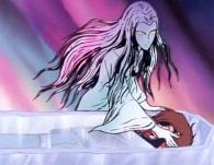 Pour le garder auprès d'elle pour l'éternité, la sylvidre enferme Albator dans un cercueil de glace
