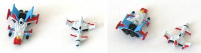 Un Cosmowings et un Spacewolf sont fournis avec l'Arcadia