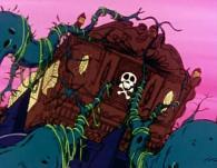 Des racines géantes agrippent l'Atlantis pour le clouer au sol