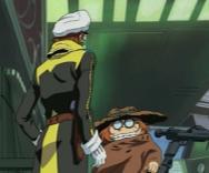 Toshiro va aider le Commandant Warrius à Réparer le Canon de St Elme du Karyu (Cosmowarrior Zero)