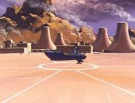 le vaisseau d'Emeraldas ressemble à cuirassé et n'a rien à voir avec le Queen Emeraldas