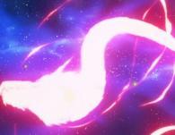 Deux charges positives et négatives sont tirées en même temps et fusionnent en forme de dragon