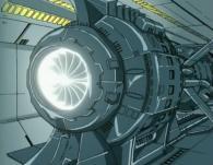 Le réacteur du Canon de St Elme du Karyu fonctionne à l'Hélium 3