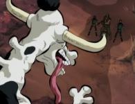 La vache géante détonne beaucoup avec le reste de la série