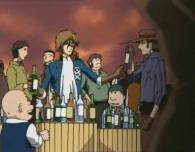 Albator offre son stocke d'alcool pour racheter la faute de Toshirô