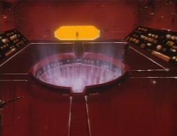 Le père de Lydia pénètre dans la salle de l'ordinateur de l'Ombre de la Mort, mais cette machine est protégée par des canons laser