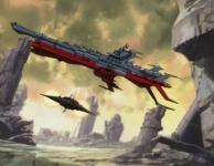 Hell Maetel quitte le Karyu à bord d'un petit vaisseau
