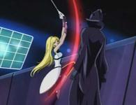 Hell Maetel lui fait comprendre par la force qu'il n'est pas de taille face à la détermination de Warius