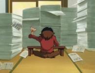 Sylviana découvre l'appartement où travaille Leiji Matsumoto l'auteur original