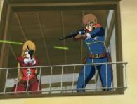 Albator et Emeraldas tentent de repousser les pirates