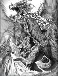 Anveena en face de Kalec en forme de dragon