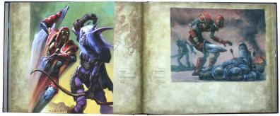 page 186 et 187 de l'art book : The Art of the Trading Card Game (World of Wacraft)