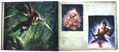 page 22 et 23 de l'art book : The Art of the Trading Card Game (World of Wacraft)