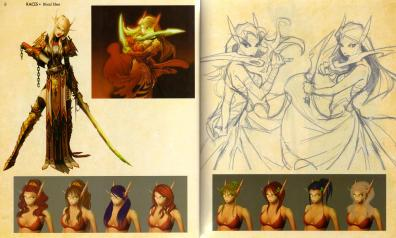 Page 8 et 9 de l'Art book : The Art of the Burning Crusade (World of Warcraft)