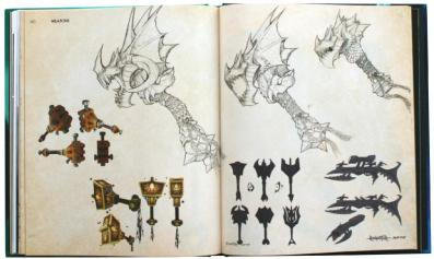 Page 160 et 161 de l'Art book : The Art of the Burning Crusade (World of Warcraft)