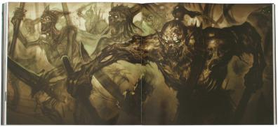 Page 104 et 105 de l'art book The Cinematic Art of Warth of the Lich King (World of Warcraft)