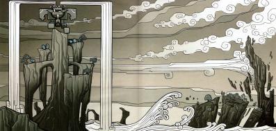 La légende prétend que les larmes d'Ogrest ont provoqué la monté des eaux (Wakfu)