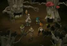 Les Abraknydes encercle Yugo et son groupe