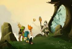 Yugo et ses amis partent pour le marché de Kelba à travers un portail de téléportation