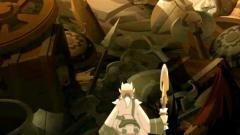 Ruel cherche des Kama parmi les armes abandonnées du champ de bataille