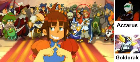 On peut distinguer parmi les princes, Actarus et Goldorak (Wakfu - Episode 04)