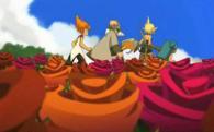 Yugo et ses amis traversent un champs de Roses Maléfiques