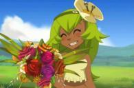 Amalia offre un bouquet de roses pour remercier ses amis de l'avoir sauvée