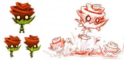 Le design des Roses Maléfique a été réutilisé pour les jeux vidéo Wakfu et Dofus 2.0