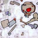 Accross the Front, peinture tirée de Back de Diamonds, Spades, Hearts & Clubs' par Mike Shinoda