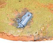 Des débris de tanks jonchent le sol et donne une histoire à votre décor