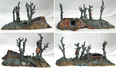 Epave de Rhino, turn over (décor Warhammer 40.000)