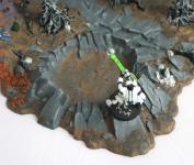 Sur les rebords du cratère la stabilité est mauvaise