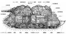 Croquis coupe de l'Akuyaku ( ??1? maquette de tank Miyazaki)