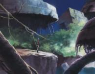 A l'épisode 8 Marina revient sur sa planète natale, mais les batiments sont en à présent hors de l'eau et il ne reste personne à part des ruines