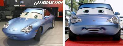 Sally Carrera en vrai à l'échelle 1 (Cars - Pixar)