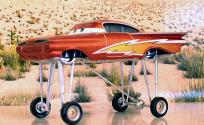 Ramone vers la fin du film lorsqu'il se peint un éclair en l'honneur de Flash pour aller le soutenir sur le circuit  (Cars - Pixar)