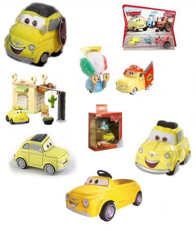 Luigi jouets et produits dérivés (Cars - Pixar)