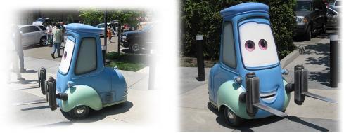 Guido en vrai à l'échelle 1 (Cars - Pixar)