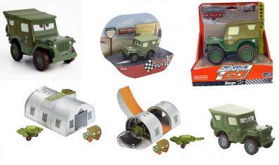 Sergent / Sarge jouets et produits dérivés (Cars - Pixar)