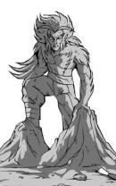 Statue de Gryf avant l'accident de Jovenia (Les Légendaires)