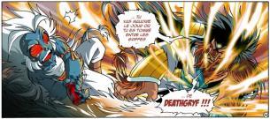 A partir du tome 11 Gryf peut se transformer en DeathGryf en pivotant sa pierre de Katseye