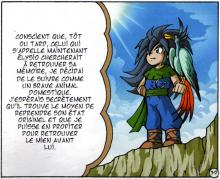 Elysio et son oiseau Vertig (qui est en réalité Skroa)