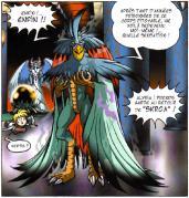 Le sorcier Skroa sous sa forme d'adulte