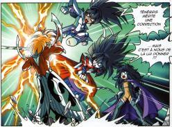Darkhell et Elysio affrontent Anathos pour protéger Ténébris