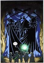 Tapisserie représentant l'affrontement entre Skroa et DarkHell