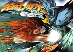 Lorsque Gryf attaque Skroa son coup est tellement violent qu'il régurgite la Pierre de Crescia