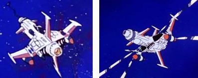 Les chasseurs Spacewolfs d'Albator 78 sont les mêmes que ceux d'Albator 84, seule la couleur change