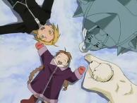 Nina et son chien Alexander ont beaucoup sympathisé avec Alphonse et Edward